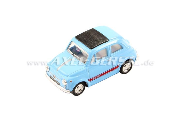 Modello KINTOY Fiat 500, azzurro 1:48, in metallo