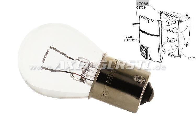 Bulb for turn signal 12 V/21W, clear