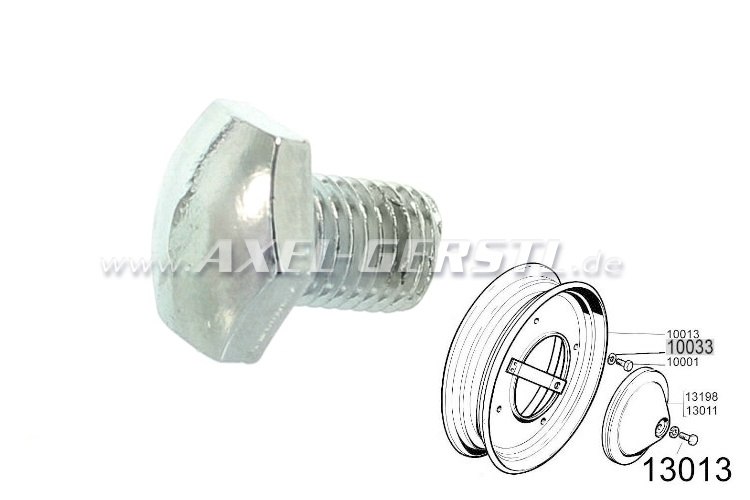 Wheel cover screw, M10 x 1,25