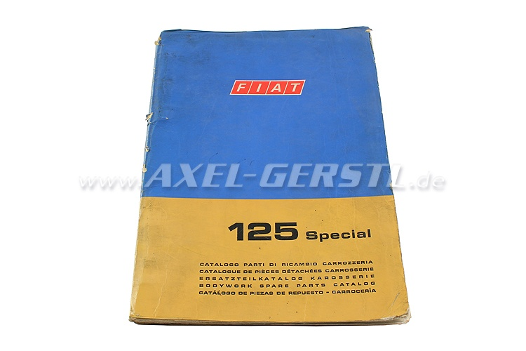 SoPo: Ersatzteilkatalog Karosserie Fiat 125 Special