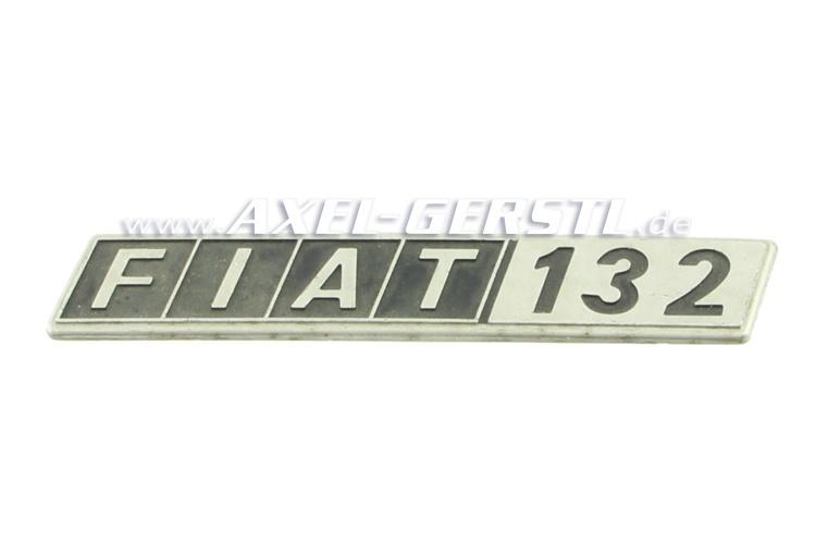 SoPo: Heckemblem / Schriftzug Fiat 132, Metall, gebraucht