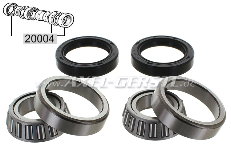 Set of rear wheel bearings for 1 side