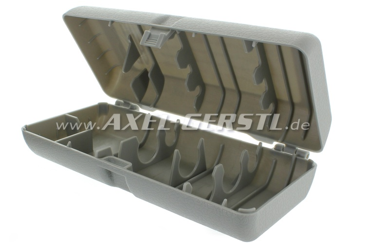 Box for emergency tools, without tools, plastic