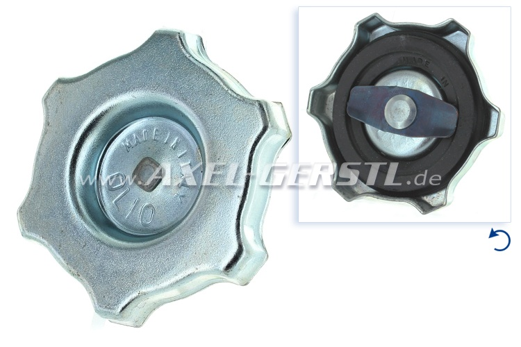 Lid for oil filter nozzle