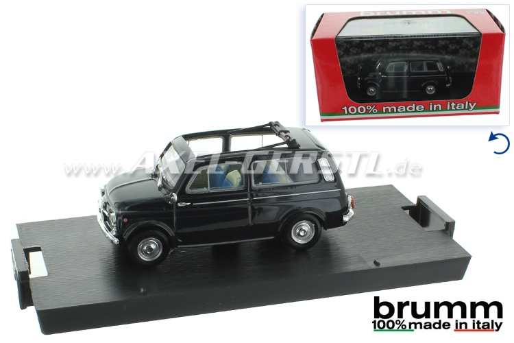 Modello dauto Brumm Fiat 500 Giardiniera, 1:43; blu scuro