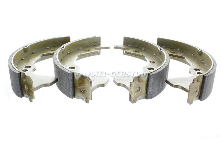 Set of brake shoes (without eccentric/long lug)
