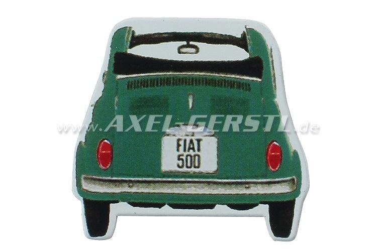 Magnet Die-cut, Motiv Fiat 500 Heck, grün