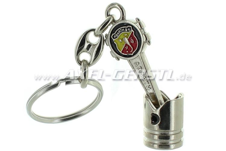 Porte-clés Pistons & bielles avec blason Abarth