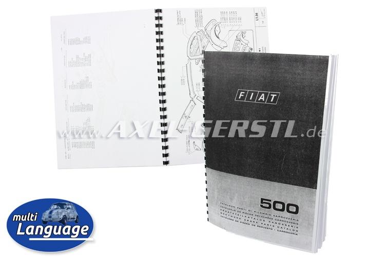 Catalogo ricambi carrozzeria, 58 pagine, copiato DIN A4