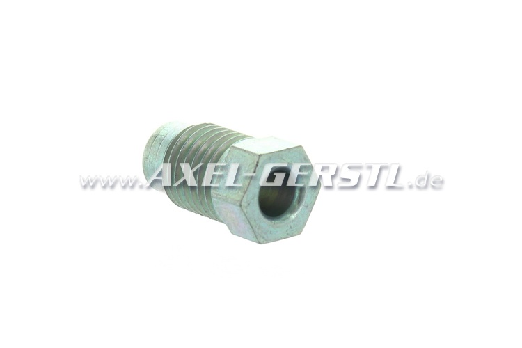 Long nipple for brake lines (screw connection, M10 x 1,25)