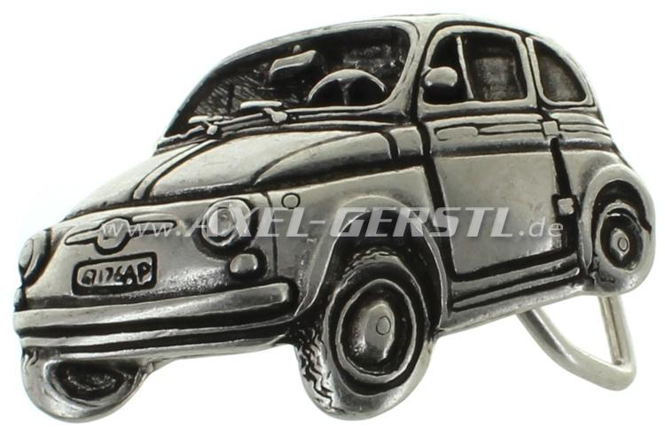 Boucle de ceinture, Motif Fiat 500.