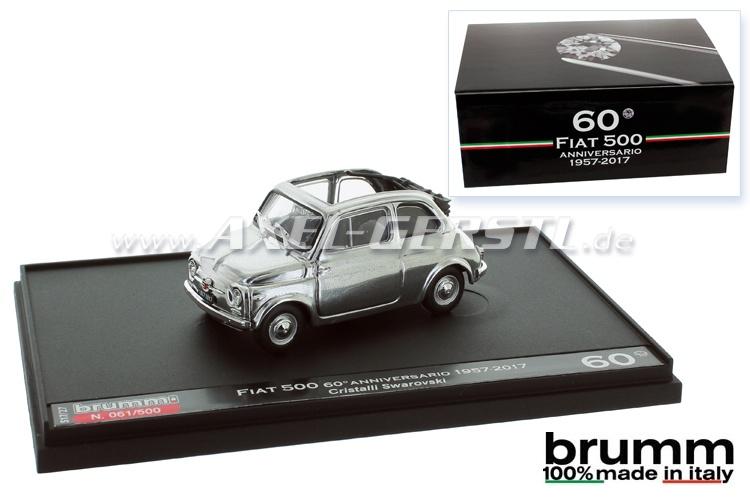 Modellauto 60 Jahre Fiat 500, mit Swarovski-Kristallen