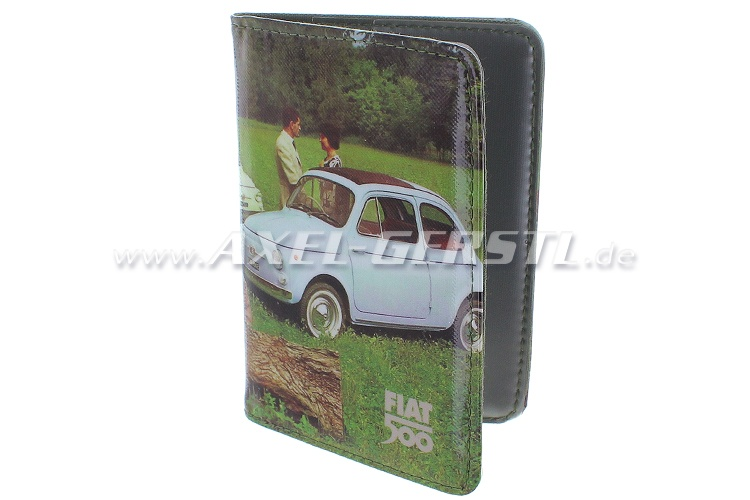 Document wallet, PVC, Fiat 500 countryside