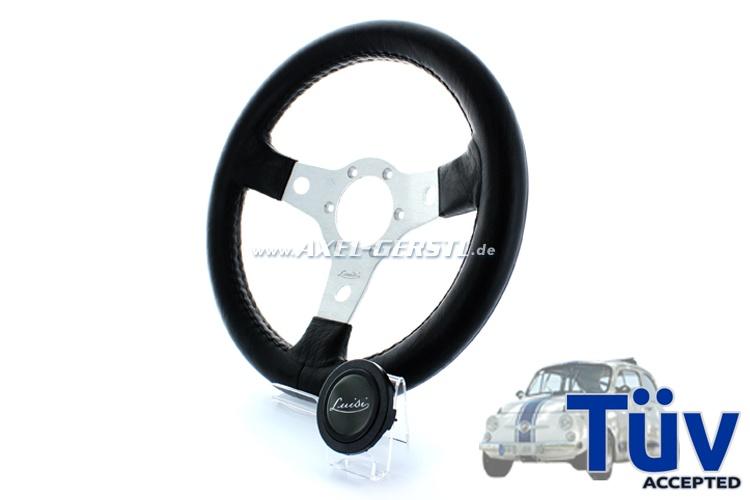 Luisi sport-steering wheel Nibbio, aluminum spokes, 310 mm