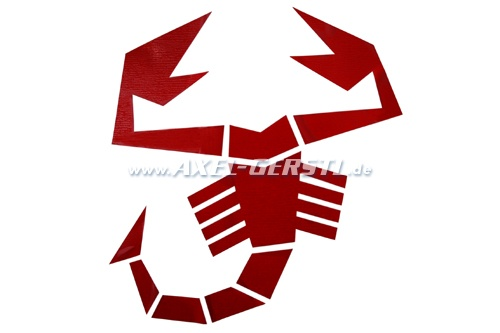 Sticker Abarth scorpion 200 x 213 mm, red