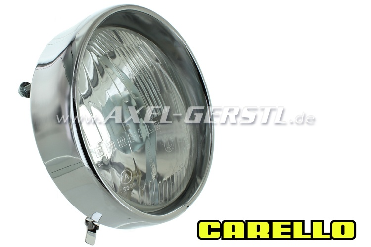 CARELLO headlight unit, with trim ring and parking light