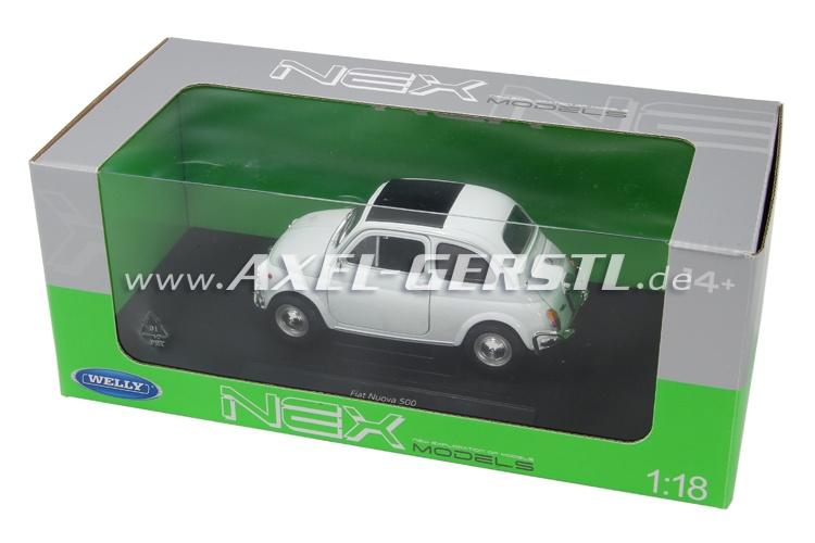 Modello dauto Welly Fiat 500 L, 1:18, bianco / chiuso