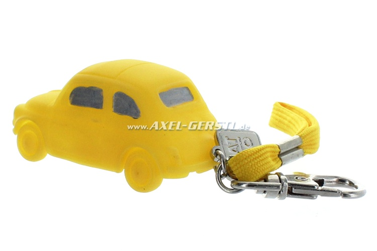Key fob made of rubber, ca. 1.43, yellow