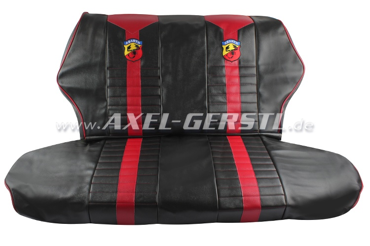 Seat Covers Red Black Abarth Artificial Leather Fr Ba Fiat
