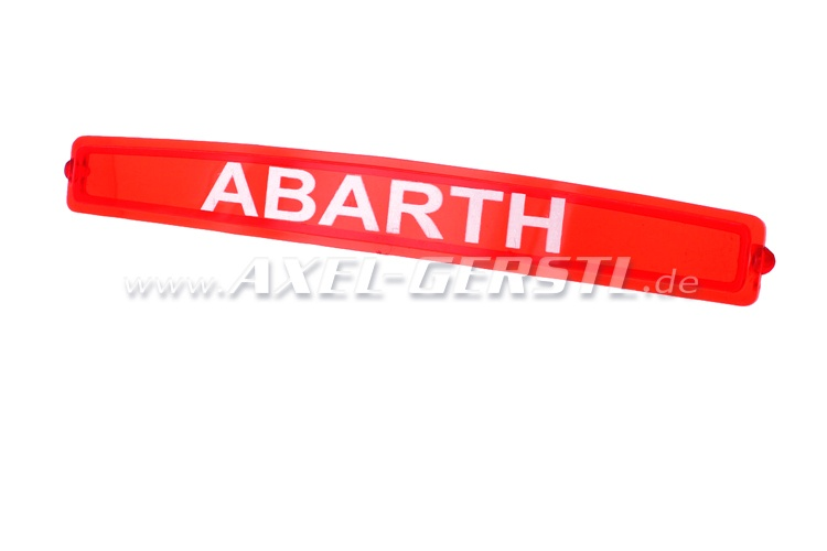 Glass for registration plate lamp Abarth