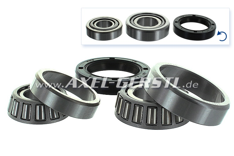 Set of front wheel bearings for 1 side