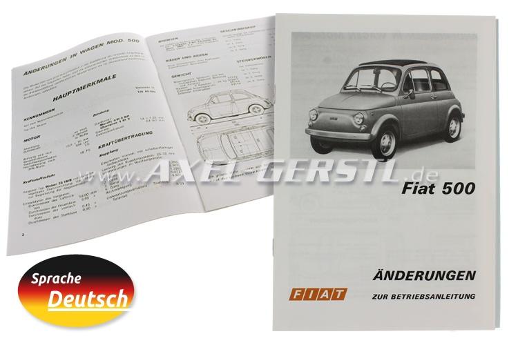 Istruzione per luso, aggiunta, 11 pagine, (tedesco)