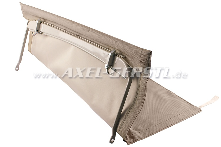 Convertible top with front bow & middle stick (short), beige