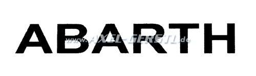 Autocollant Abarth 370 mm, noire