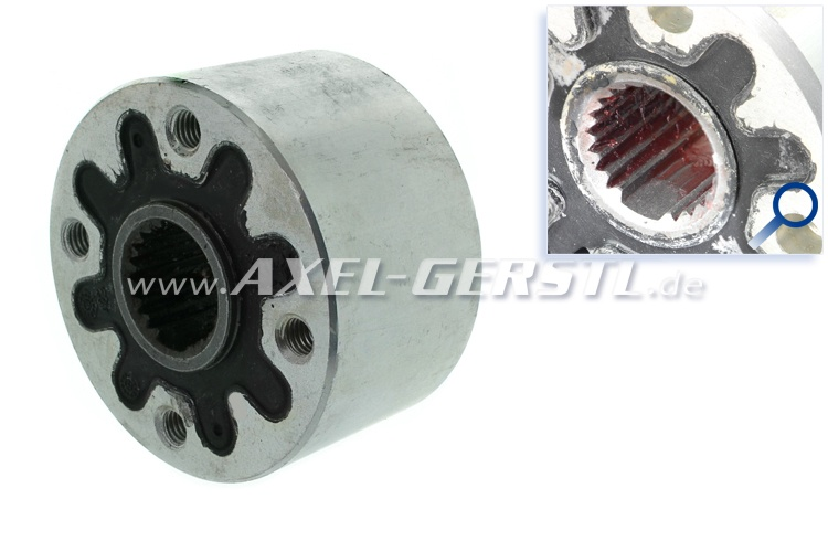 Axle coupling (torsion damper), with socket f.t. saf. plate