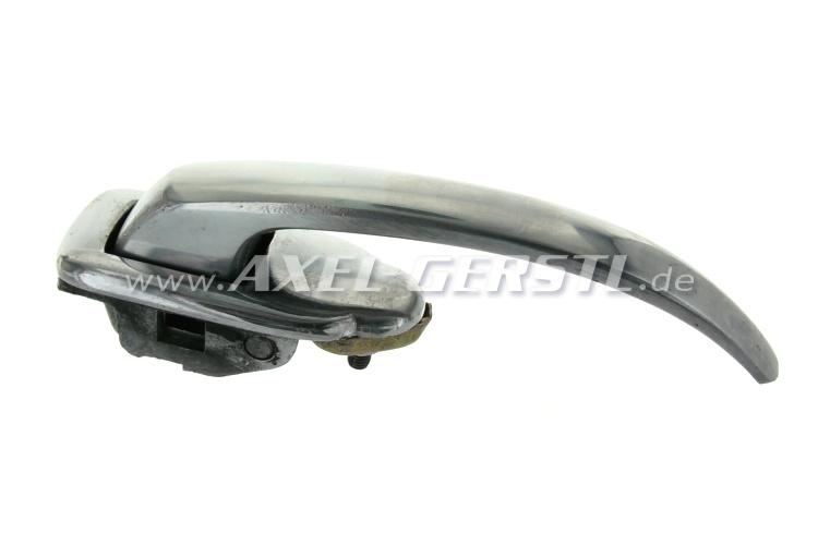 Maniglia e serratura in alluminio, dx (non bloccabile)
