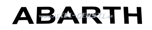 Aufkleber Abarth Schriftzug 260 mm, schwarz