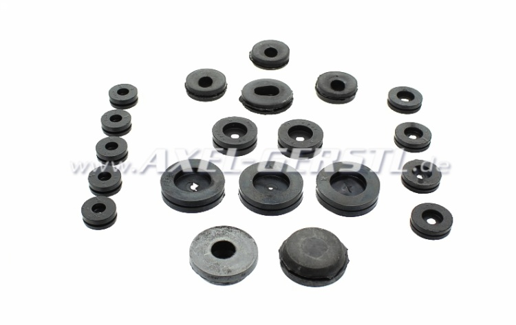 Grommets set (20 pcs) for cable / hoses / brake lines