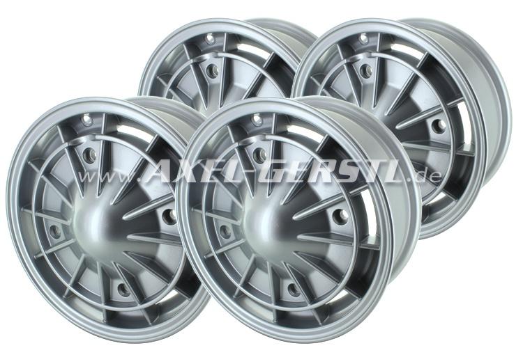 Aluminum rim set Lesmo 4.5 x 12