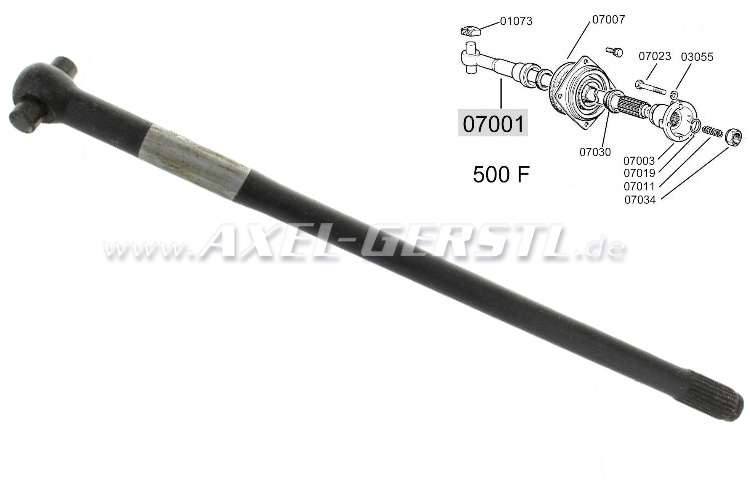 Drive shaft, thin shaft (Diameter of 19 mm)