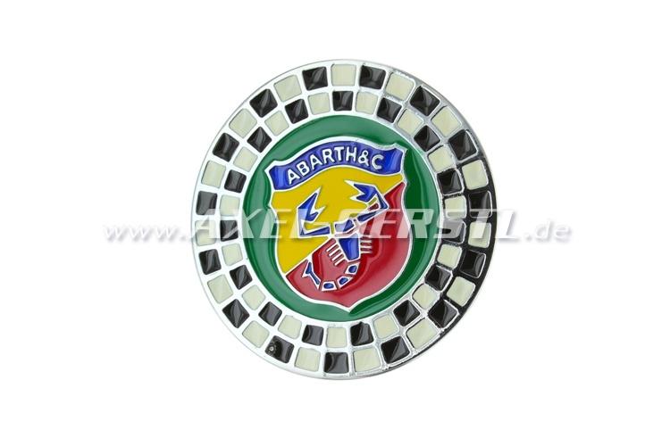 Emblème Abarth 58 mm motif damier à visser