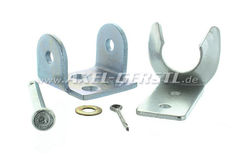 Mounts for hood pin 123 mm, single