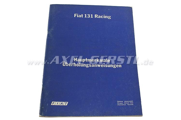 SoPo: Hauptmerkmale Überholungsanweisung Fiat 131 Racing