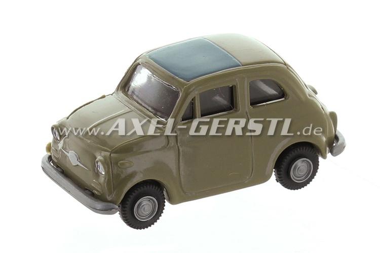 Auto modello Fiat 500, 1:87 (H0), beige