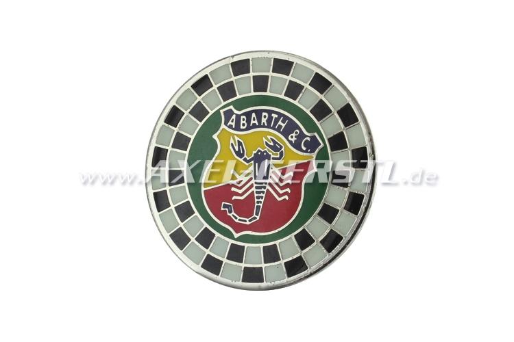 Emblème Abarth 55 mm motif damier