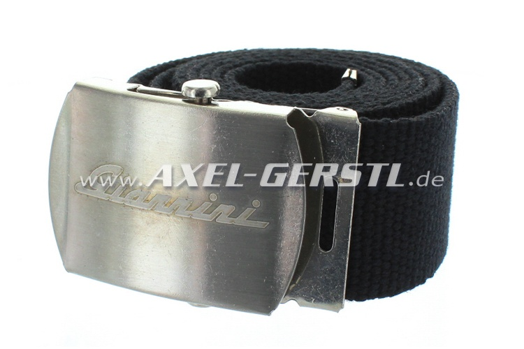 Belt (40 mm) with Giannini belt buckle, black