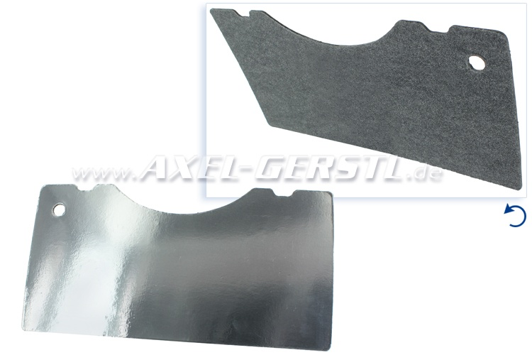 Insulating plate with film (heat protection) for bonnet