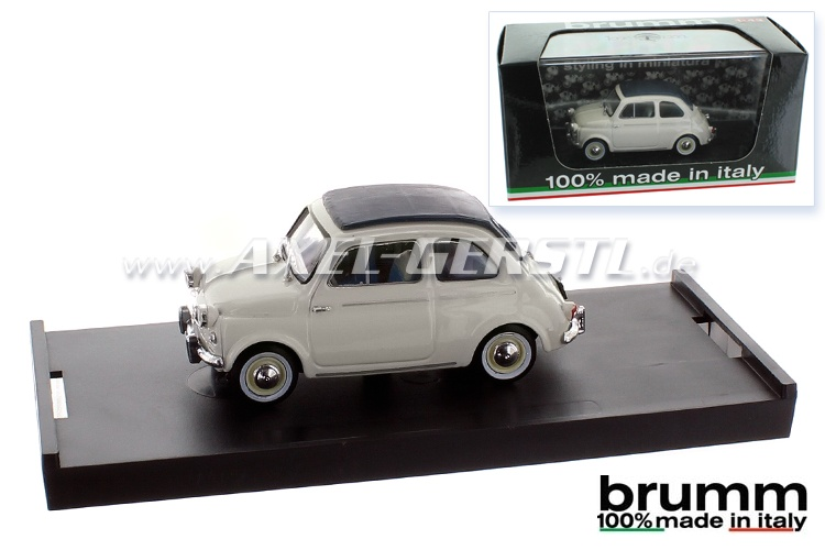Model car Brumm Fiat 500 N (1959), 1:43, light grey / closed