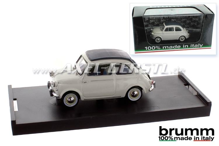 Modellauto Brumm Fiat 500 N (US-Vers.) 1:43 hellgrau/geschl.