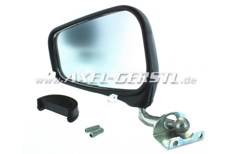 Wing mirror for door rabbet mounting, black left