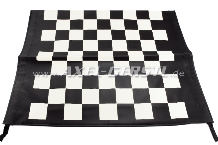 Convertible top cover Corsa, black/white checkered