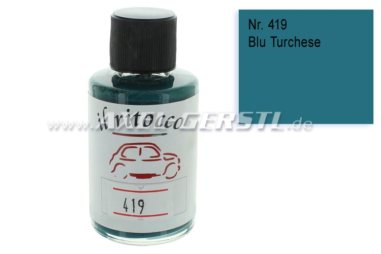Touch-up paint for the bodywork, turquoise blue, N. 419