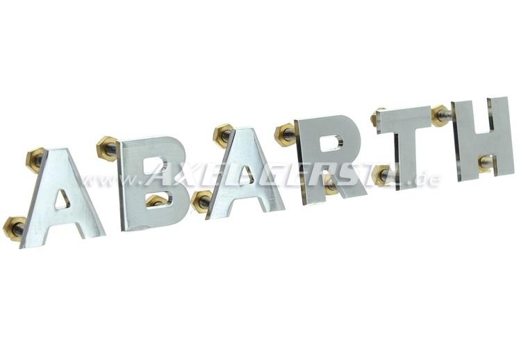 Emblème arrière Abarth, lettres seules, 20 mm