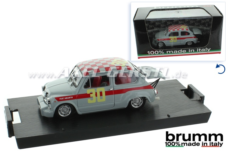 Modello dauto Brumm Fiat 600 ABARTH - 4 ore Monza, 1:43