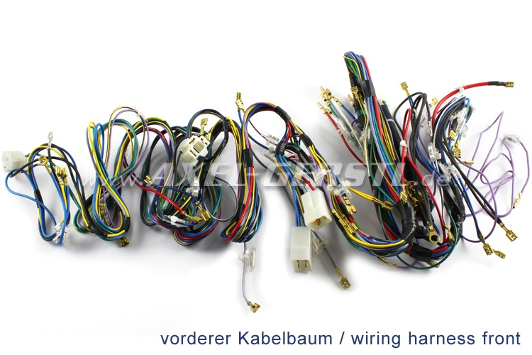 wiring harness assembly w/o hazard warning flasher, premium fiat 500  giardiniera / bianchina panoramica - spare parts fiat 500 classic 126 600  onderdelen | axel gerstl  axel gerstl
