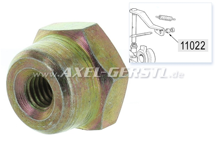 Nut for clutch cable assembly